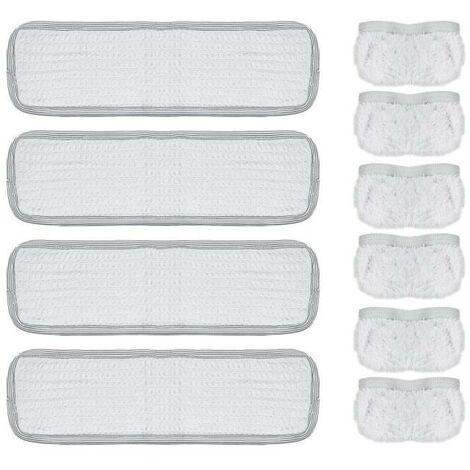 POLTI KIT4 SERPILLIERES ET 6 BONNETTES VAPORETTO (Pure, AirPlus, Handy 15/20, Smart 30) PAEU0217