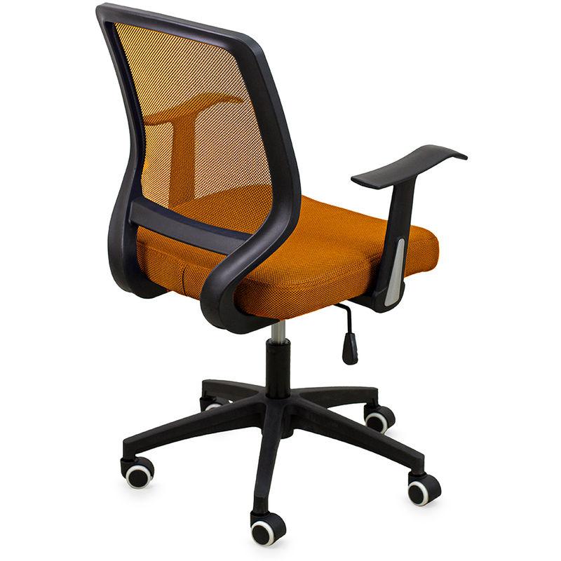 Sedie Da Ufficio Arancione.Poltrona Da Ufficio In Tessuto Arancione Con Ruote Dh53956