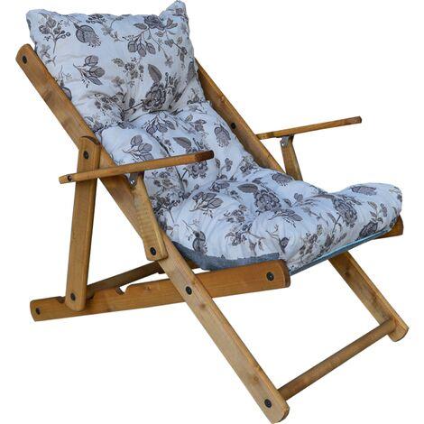 Q.bo Poltrona Pieghevole Schienale reclinabile 6 Posizioni Campeggio Giardino 05366