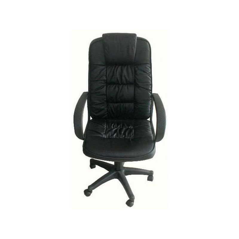 Poltrona in eco pelle nera poltrone sedie girevoli per ...