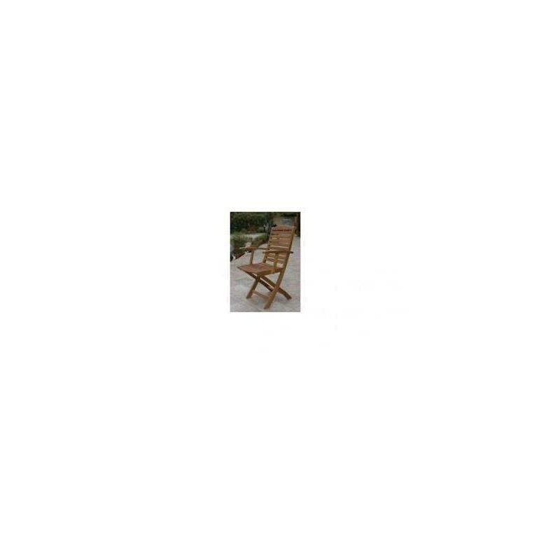 Poltrona pieghevole in legno imperiale cm 56x62x90h pezzi 2 arredo giardino - A.C.