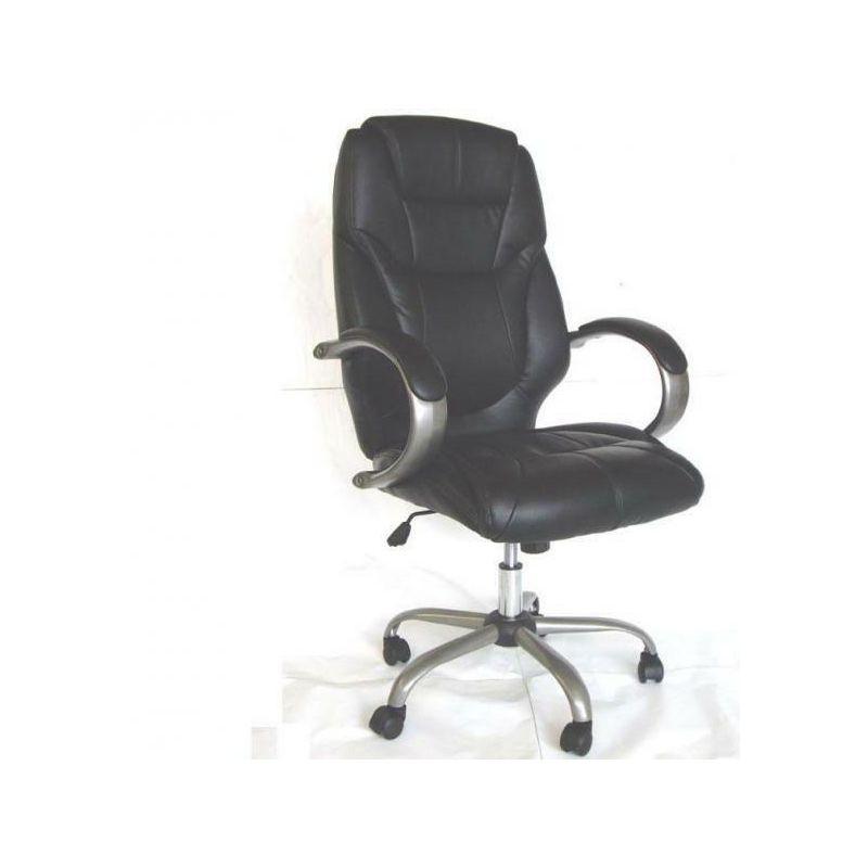 Cruccolini - Poltrona sedia presidenziale nera girevole arredo ufficio con braccioli