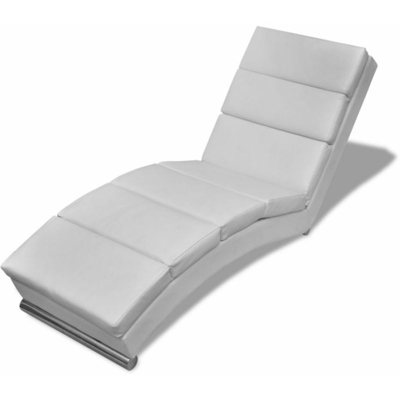 Poltrona relax chaise longue sedia a sdraio in similpelle design moderno