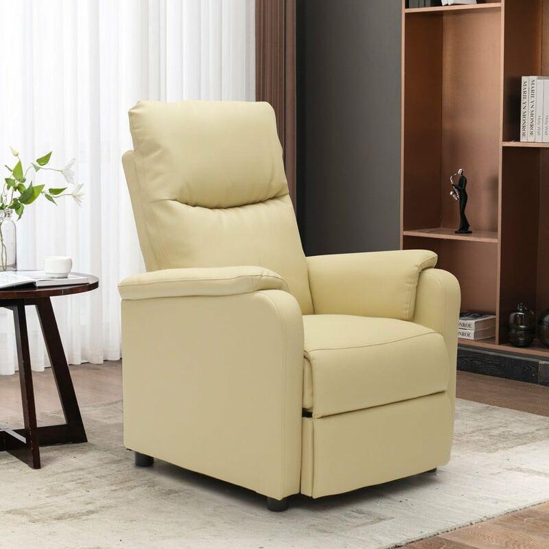 Poltrona Relax Reclinabile.Poltrona Relax Reclinabile Con Poggiapiedi In Ecopelle Giulia
