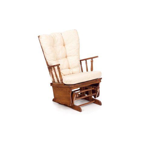 Cuscino Sedia A Dondolo.Poltrona Sedia A Dondolo Legno Massello Vintage Cuscino Relax Sdraio Oscillante
