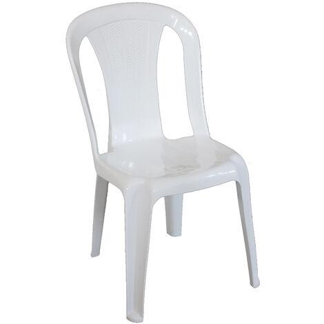Poltrona sedia Aura in dura resina di plastica bianca impilabile ...