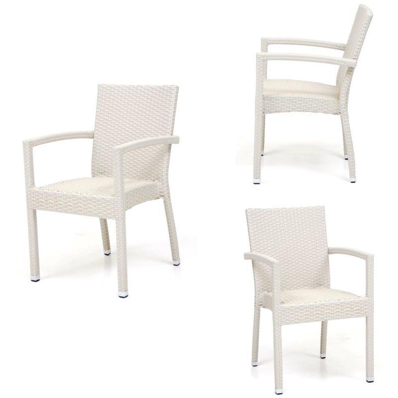 Poltrona Mod. Maiorca colore Bianco struttura alluminio 55x55x85h cm - SAL MAR