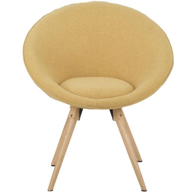 Poltrone In Vimini Da Interno poltrona sedia imbottita in ferro e legno arancione da interno moderna  mission