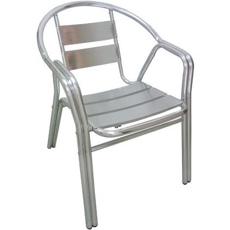 Sedie Da Esterno Bar.Poltrona Sedia In Alluminio Doppio Tubolare Per Esterno Bar