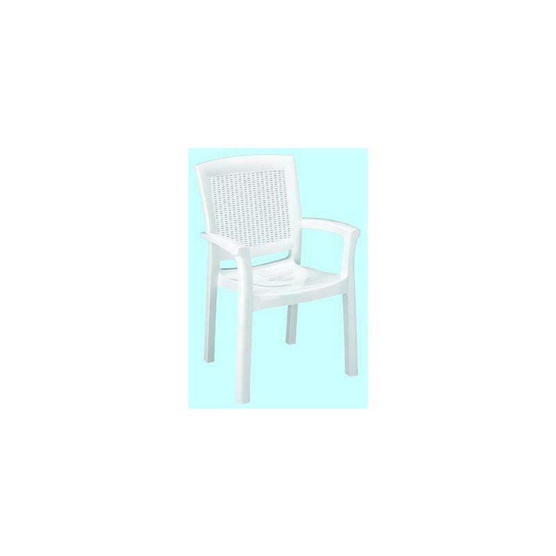 Poltrona sedia resina rattan maxi amazon bianca arredo per giardino - FR