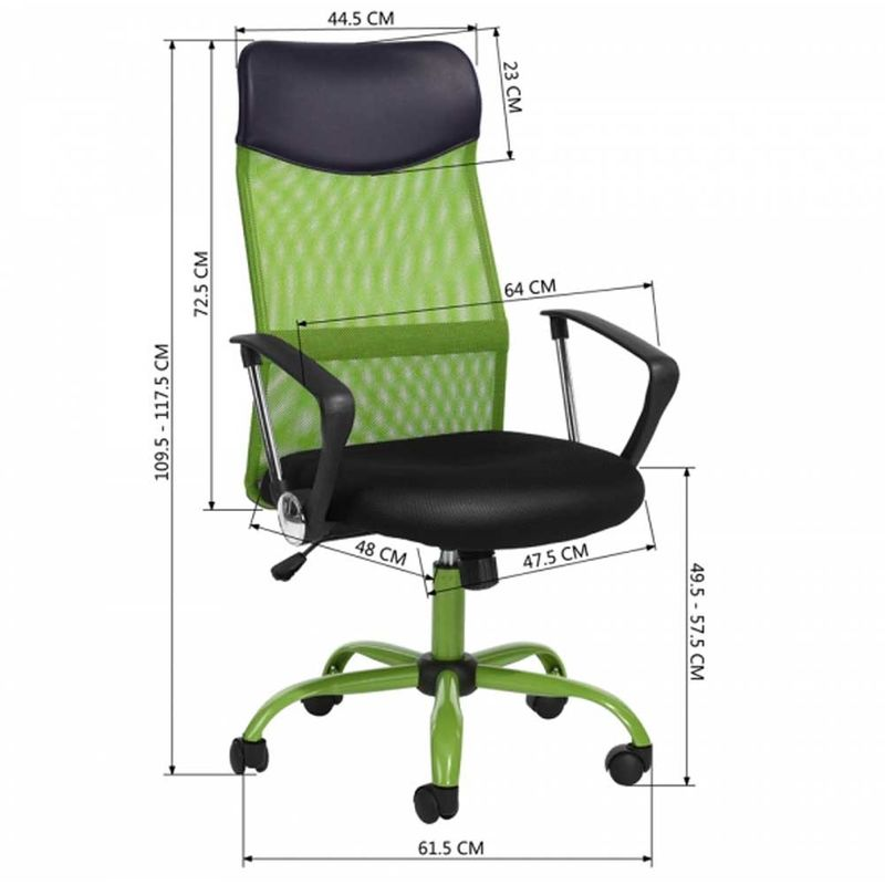 Sedie Da Ufficio Verde.Poltrona Sedia Scrivania Ufficio Presidenziale Girevole Direzionale Pelle Verde