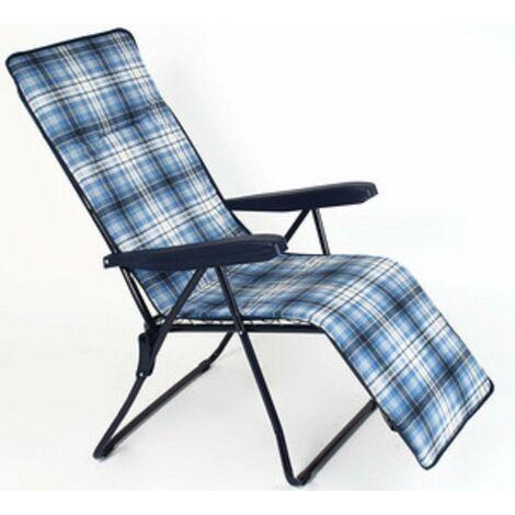 Sedia A Sdraio Con Poggiapiedi.Poltrona Sedia Sdraio 6 Posizioni Con Poggiapiedi Mare Spiaggia