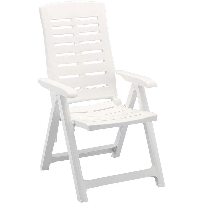 Sedie Plastica Pieghevoli Da Giardino.Sedia Giardino Spiaggia Posizioni Mare Sdraio Bianca In Schienale