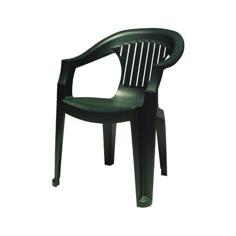Poltrona Sole impilabile Verde classica sedia in plastica da esterno ...