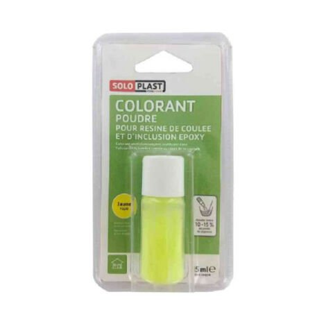 Polvo colorante para resina SOLOPLAST 15 ml amarillo fluorescente - Jaune