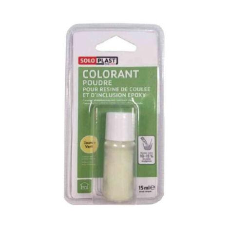 Polvo colorante para resina SOLOPLAST 15 ml verde amarillento - Vert