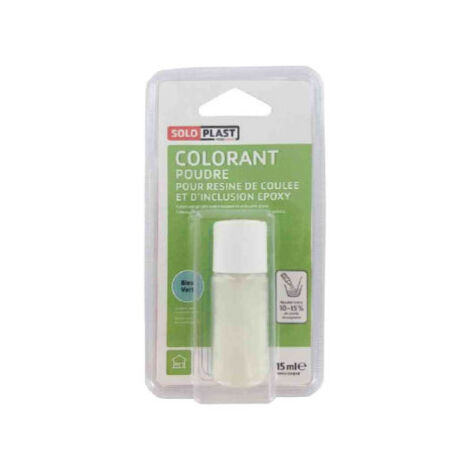 Polvo colorante para resina SOLOPLAST 15ml verde azulado - Vert