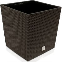 Poly Rattan Flower Pot Rato Low With Inner Pot 35 L or 64 L Colour Choice