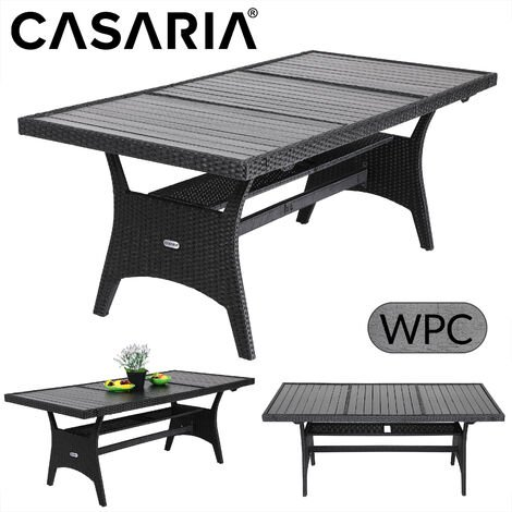Poly Rattan Garden Dining WPC Table