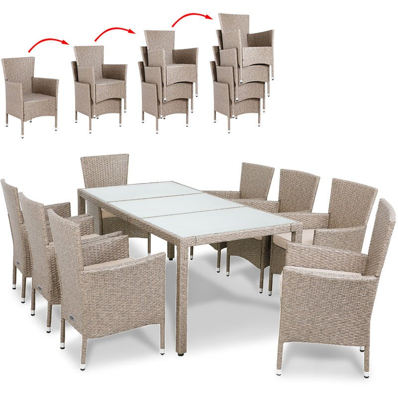 Poly Rattan Garden Furniture Dining
