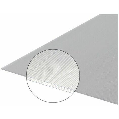 Polycarbonat-Stegplatte 4 mm - Farbe - Opal, Breite - 105 cm, Länge - 2 m