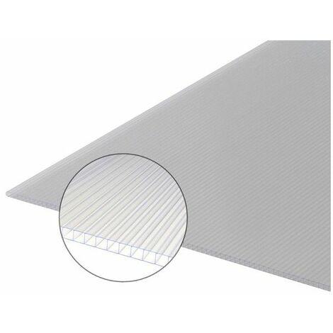 Polycarbonat-Stegplatte 6 mm - Farbe - Opal, Breite - 105 cm, Länge - 2 m