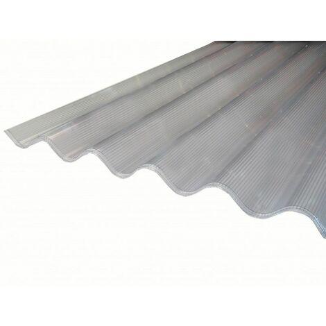 Polycarbonat-Wellstegplatte 6 mm großwellig (177 / 51 mm) - Farbe - Hell, Stärke - 6 mm, Gesamtbreite der Platte - 92 cm, Gesamtlänge der Platte - 1,52 m