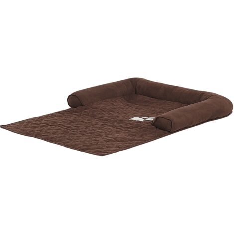 Polyeser Pet Bed for Sofa Dog Cat Couch Protection Brown Bozan