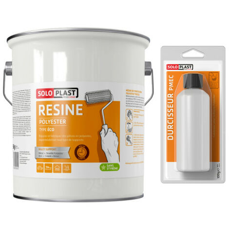 polyester resin Soloplast kind eco 5 KG with hardener