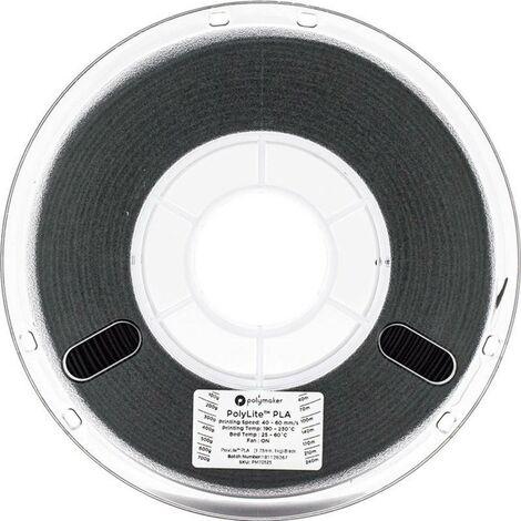 Polymaker 70525 Filament PLA 1.75 mm 1 kg noir PolyLite