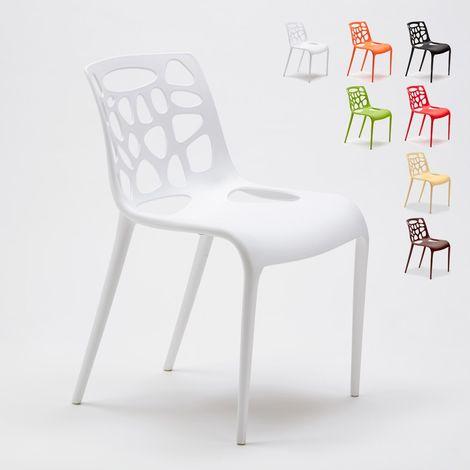 Polypropylene Design Chair Dining Outdoor Indoor Restaurants GELATERIA