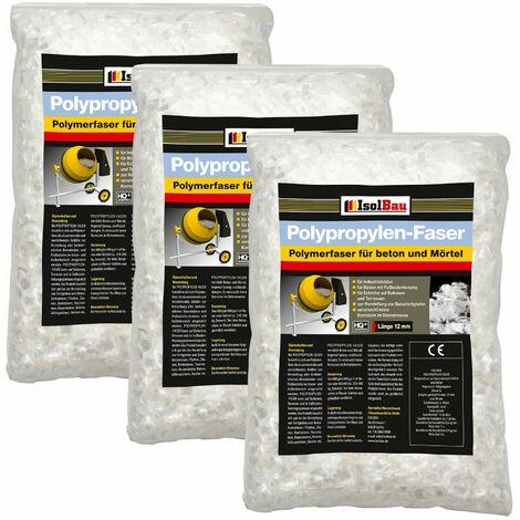 Polypropylenfasern Glasfasern für Estrich Beton Mörtel Alkaliresistent 15 kg HQ