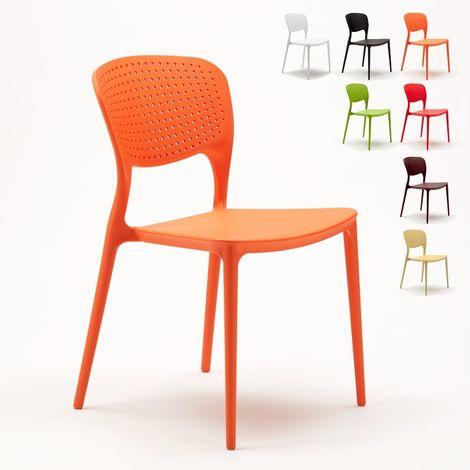 Polypyopylene Stackable Garden Chair for Indoors and Outdoors GARDEN GIULIETTA