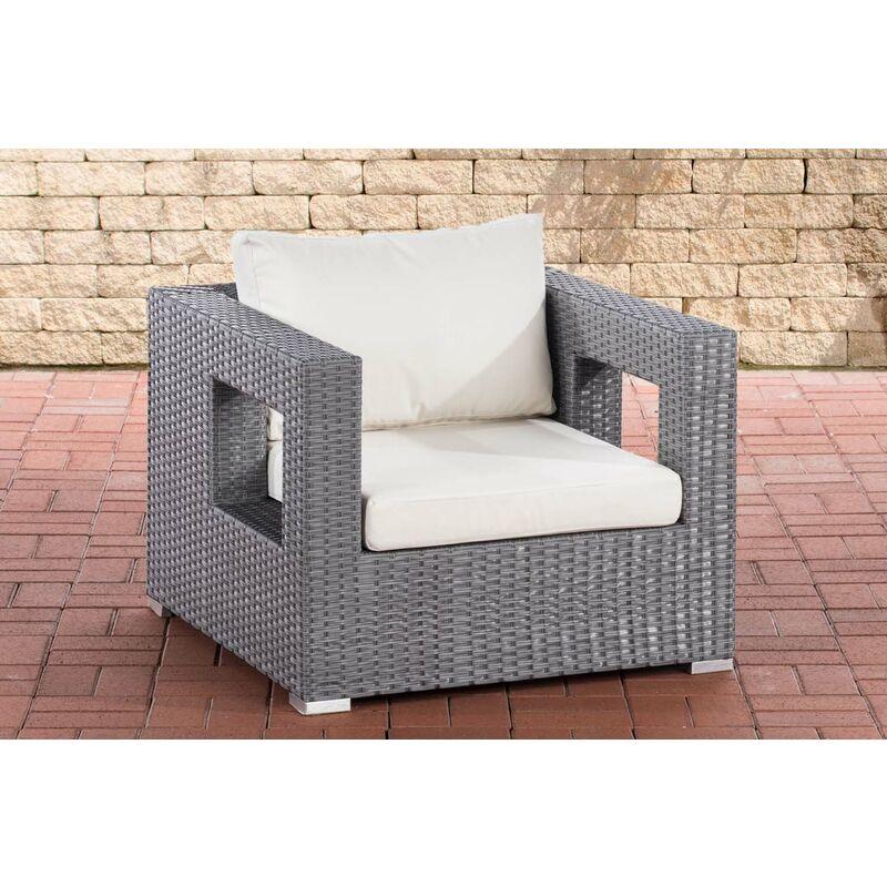 CLP - Sessel Honolulu-grau-Cremeweiß