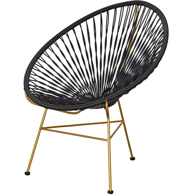 Polyrattan Sessel schwarz Clubsessel Loungesessel Relaxsessel Stuhl A00000634 - DYNAMIC24