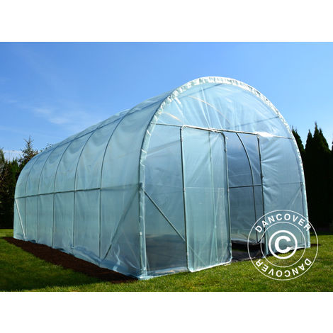 Polytunnel Greenhouse 120, 3x6x2.4 m, 18 m², Transparent