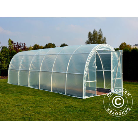 Polytunnel Greenhouse 140, 2.2x6x1.9 m, 13.2 m², Transparent