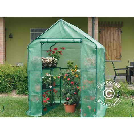 Polytunnel greenhouse 1.4x1.4x1.95 m, 1.96 m², Green