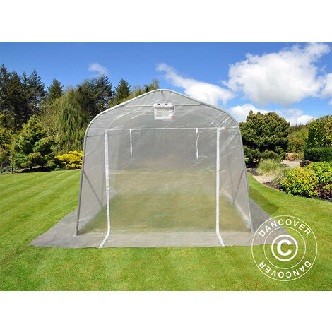 Polytunnel greenhouse, 2.4x3.6x2.4 m, PE, 8.6 m², Transparent