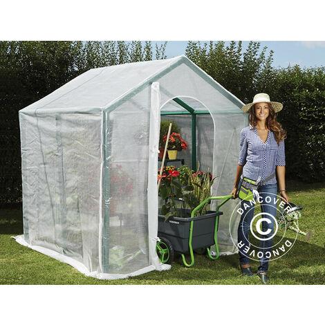 Polytunnel greenhouse 2x2x2.2 m, 4 m², Transparent