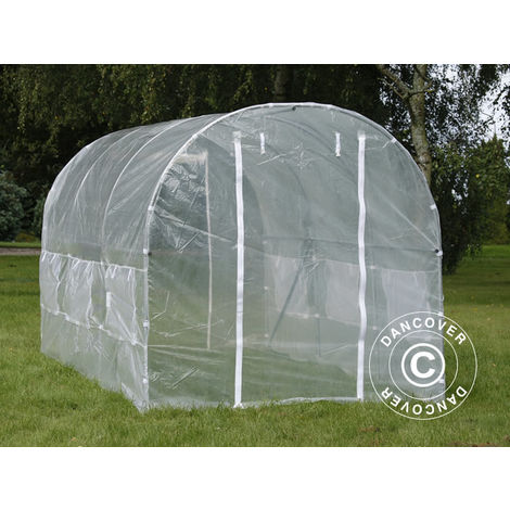 Polytunnel Greenhouse 2x4.5x2 m, 9 m², Transparent