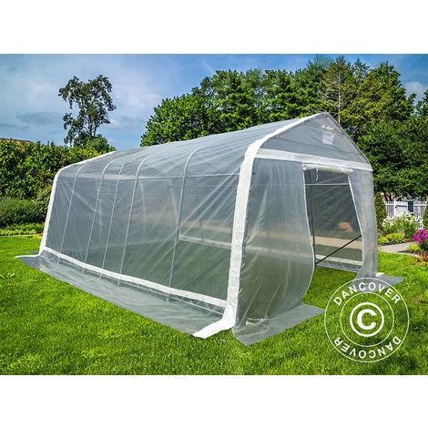 Polytunnel greenhouse, 3.6x6x2.68 m, PE, 21.6 m², Transparent