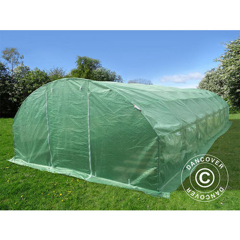 Polytunnel Greenhouse 4x10.6x2 m, 42.4 m², Green
