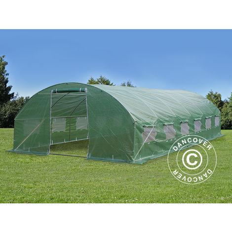 Polytunnel Greenhouse 4x8x2 m, 32 m², Green
