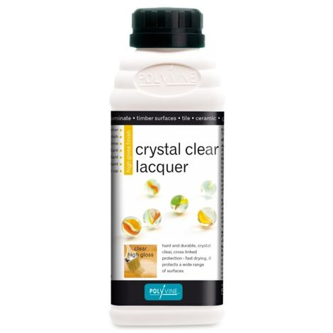 Polyvine - Crystal Clear Lacquer Gloss and Satin - 500ml, 1 and 4 Litre Sizes