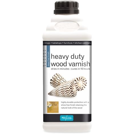 "main image of ""Polyvine Dead Flat Heavy Duty Interior Wood Varnish 500ml, 1 Litre, 4 Litre"""