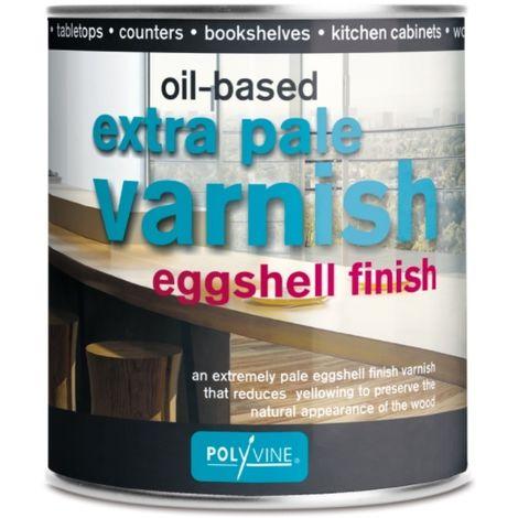 Polyvine Extra Pale Eggshell / Dead Flat Varnish 500ml / 1 Litre / 2.5 Litre
