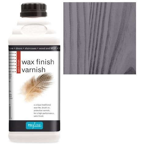 Polyvine - Wax Finish Varnish - Black - 500ML