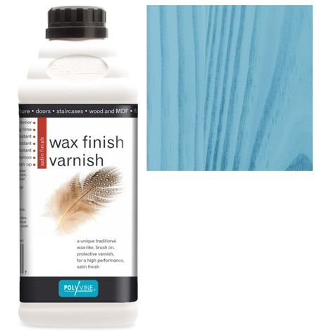 Polyvine - Wax Finish Varnish - Blue - 1 LITRE