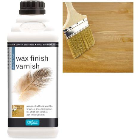 Polyvine - Wax Finish Varnish - Dead Flat - 1 LITRE